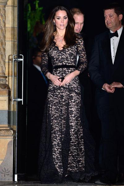 Кейт Миддлтон в кружевном платье Temperley