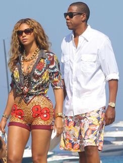 Бейонсе (Beyonce) и Jay-Z отдыхают на юге Франции.