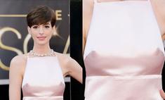 Красная дорожка «Оскара»-2013: Энн Хэтэуэй показала грудь