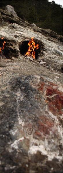 Негаснущий Огонь Химеры (Газпром здесь ни при чем) на горе Олимп по пути из Антальи в Демре служил маяком древним ликийцам