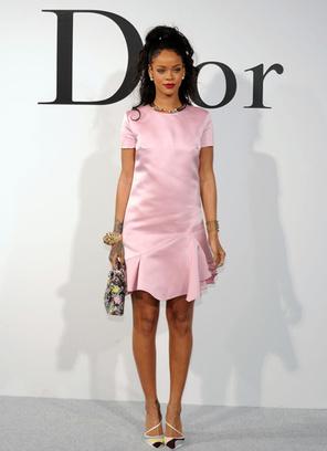 Рианна на шоу Dior
