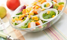 Готовим крабовый салат с огурцами