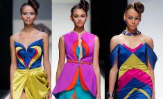 Цветы и бумеранги: в Петербурге показали моду будущей весны