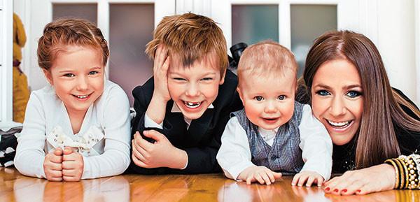 Юлия Барановская, дети, фото
