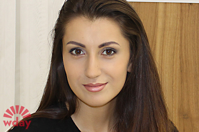 Анна Васильева, макияж до и после, фото