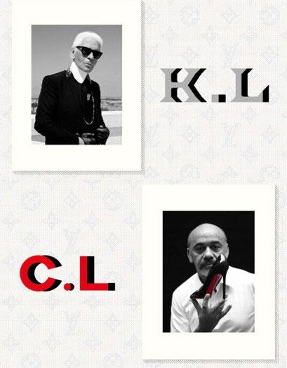 Карл Лагерфельд и Кристиан Лубутан сотрудничают с Louis Vuitton