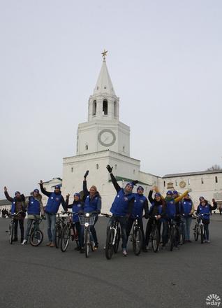 Мединский и Минниханов открыли первую велодорожку в Казани