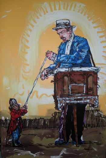 Часто шарманщик ходил с обезьянкой, которая сидела у него на плече и вытаскивала из коробки «билетики счастья».