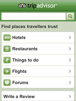 Узнайте рекомендации опытных путешественников с помощью приложения Tripadvisor.