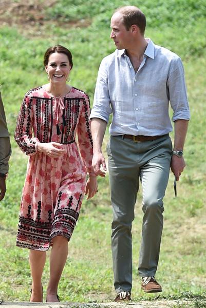 Кейт Миддлтон и принц Уильям в Национальном парке Казиранга