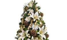 Новогодние цветы вместо елок