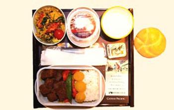 Cathay Pacific славится разнообразными блюдами из риса.