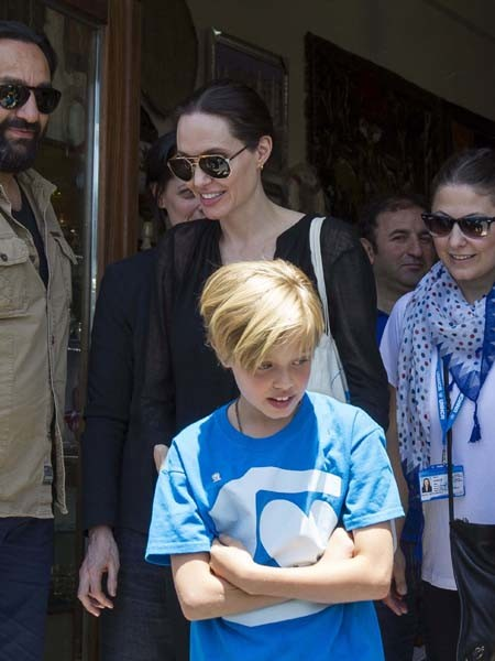 Анджелина Джоли и Шайло фото 2015