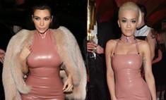 Кардашьян и Ора пришли на вечеринку в одинаковых платьях