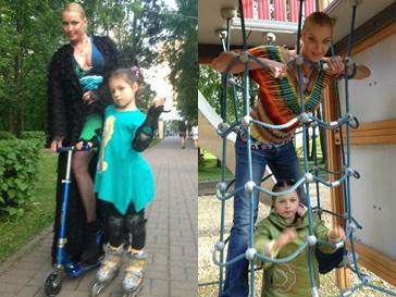 Анастасия Волочкова на прогулке с дочерью Ариной