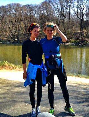Во время беременности Киценко занималась бегом