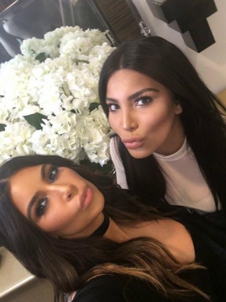 Ким Кардашьян встретила своего двойника