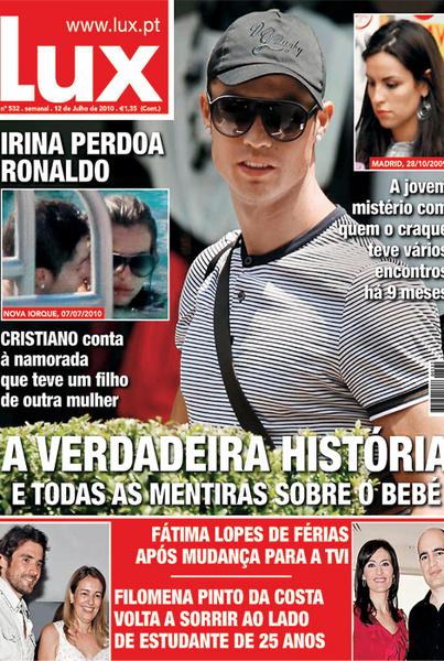 Португальский таблоид опубликовал фото предполагаемой матери ребенка знаменитого футболиста.