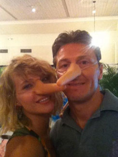 Глюкоза с мужем Александром Чистяковым