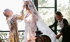 Сестры Олсен сшили свадебное платье