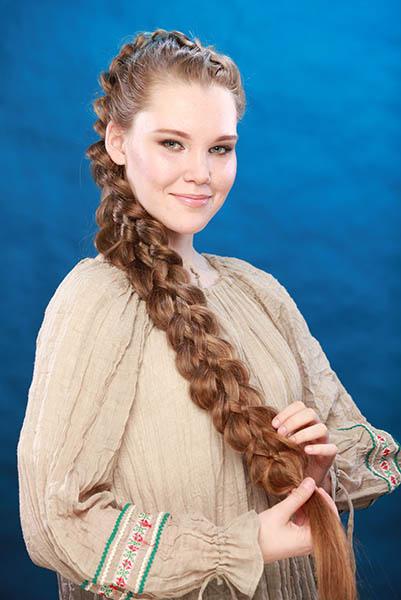 Русская девушка с косичками аня фото 585-767