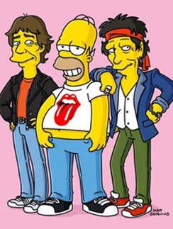 """Мик Джаггер (Mick Jagger) Кит Ричардс (Keith Richards) в мультсериале """"Симпсоны"""""""