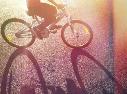 Отражение велосипеда