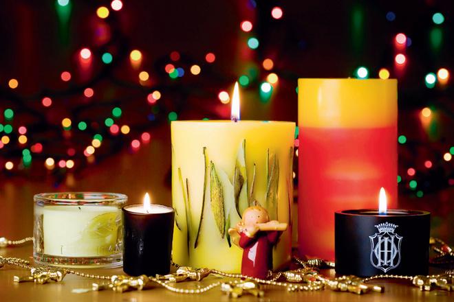 Слева направо: свечи с ароматом вербены от L'Occitane, нотами ванили от L'Artisan Parfumeur, нотами чая улун от Acqua di Parma, нотами классического аромата Missoni и черной туберозы от Sisley.