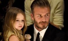 Милота дня: Дэвид Бекхэм научил дочку играть в футбол