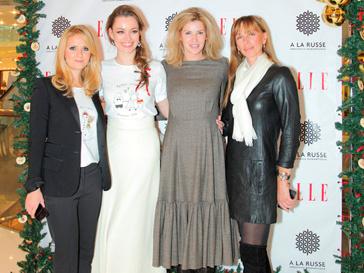 Наталья Шкулева, Анастасия Романцова, Любовь Абрамова и Ирина Мухина на презентации футболок