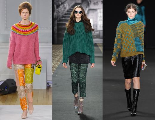 Зима 2012-13 Вязаная Женская Одежда