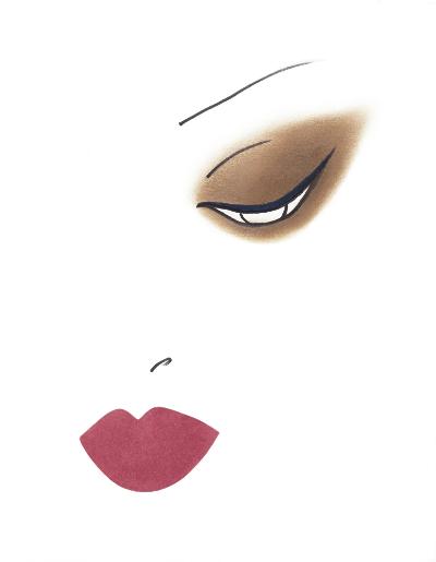 Скетч от креативного директора по макияжу Yves Saint Laurent Beaute Ллойда Симмондса