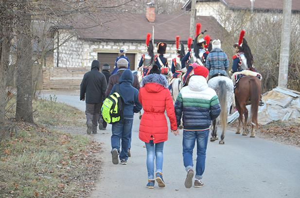 Реконструкторы в Малоярославце