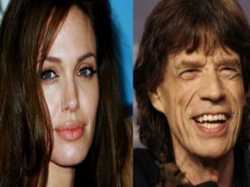 Анджелина Джоли и Мик Джаггер
