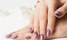 Маникюр с гелевыми ногтями: правила нанесения блесток