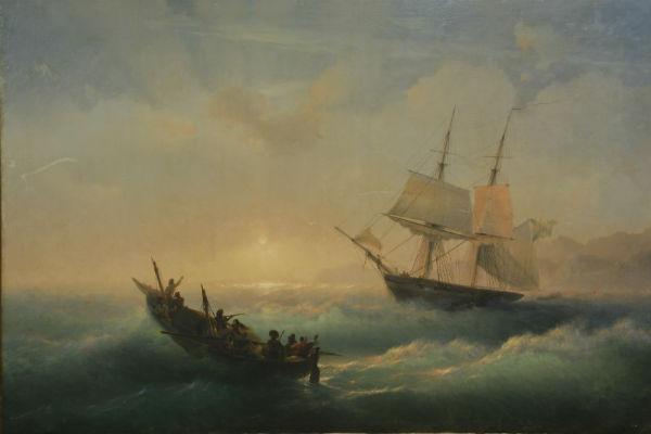 Иван Айвазовский, «Восход солнца на Черном море» (1850-1860 гг.)