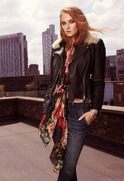 Софи Тернер в рекламной кампании Karen Millen осень-зима 2014/15