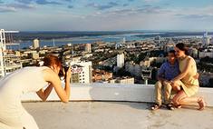 На крыше небоскреба: захватывающие дух фото известных волгоградцев с детьми