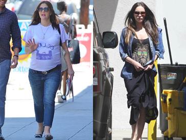 Беременных Дрю Бэрримор (Drew Barrymore) и Меган Фокс (Megan Fox) не заботит модная одежда