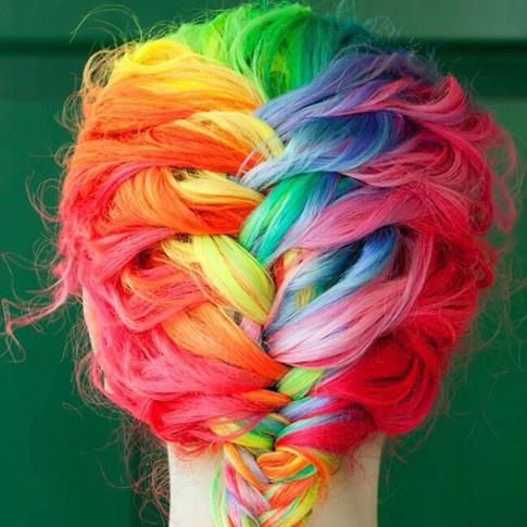 Радужное окрашивание #rainbowhair