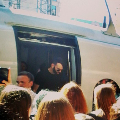 В Петербург музыканты прибыли на «Сапсане»