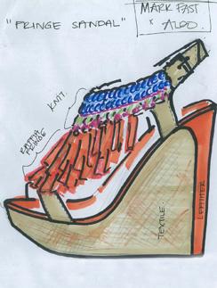 Одна из моделей от Марка Фаста будет украшена вязанными деталями
