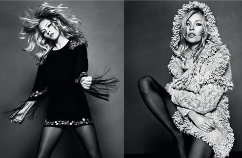 Кейт Мосс ()Kate Moss) в рекламной кампании своей дизайнерской коллекции для TopShop