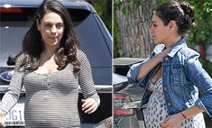 Мама дня: первые фото беременной Милы Кунис
