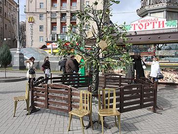 Необычные скульптуры, Киев, культура