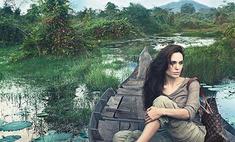 Анджелина Джоли позировала для Louis Vuitton в Камбодже