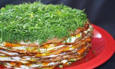 Десерт на закуску: торт из печени
