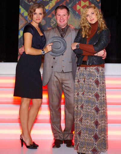 Ксения Алферова и Алексей Немов с женой Галиной на показе Etro в Сочи