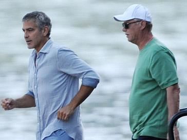 Джордж Клуни (George Clooney) с папой Стейси Киблер - Гари