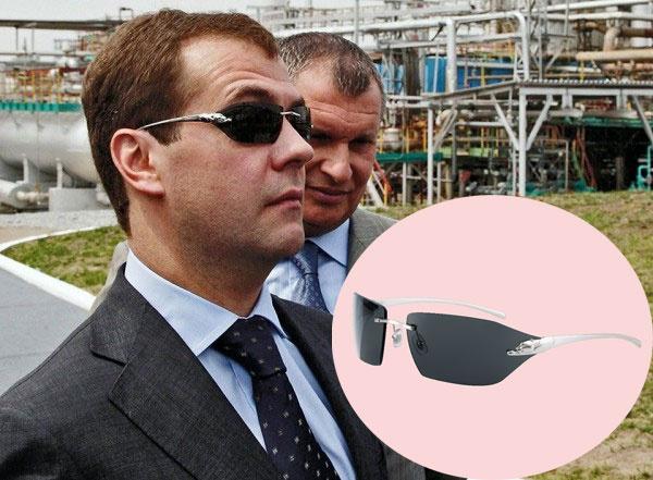 Дмитрий Медведев в очках Cartier